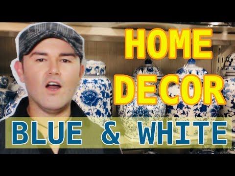 Spring Decorating With Blue And White / Budget Decor Ideas for 2019