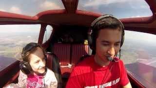 Funny: Aerobatics on Yak-18T near Severka UUML aerodrome with my daughter