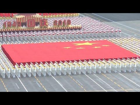 中共建國70周年國慶大典 國家主席習近平親自閱兵