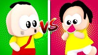 CASA MAGALI VS. CASA CASCÃO! - Minecraft Casa vs. Casa