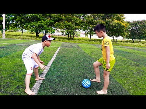 Kids Go To Shool | Zin And Best Friend Practice Football Com