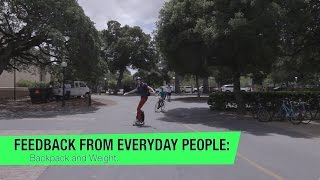 Feedback From Everyday People:  Backpack and weight