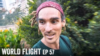 I LIVED HOMELESS IN THIS BUSH! - World Flight Episode 57