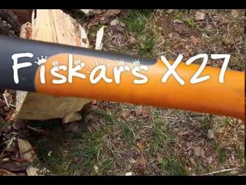 Fiskars X27 axe attack