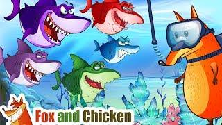 Baby Shark Dance | Fox and Chicken Nursery Rhymes & Kids Songs