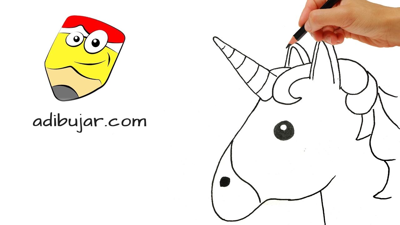 Emojis Whatsapp: Cómo dibujar un emoji unicornio paso a paso - YouTube