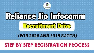 Reliance Jio Infocomm recruitment drive for  2019 & 2020 Batch Students !
