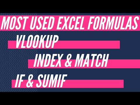 Learn Excel Formulas & Functions In 1 Hour: VLOOKUP, INDEX, MATCH, SUMIF & IF