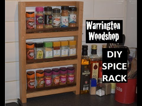 DIY Simple Spice Rack