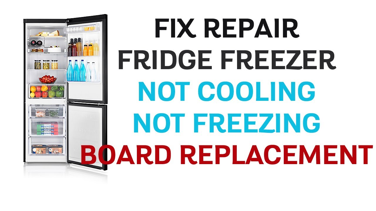 Fridge Freezer Blinking Led Light Not Cooling Not Freezing – SAMSUNG  RB31FERNDBC – Board Replacement