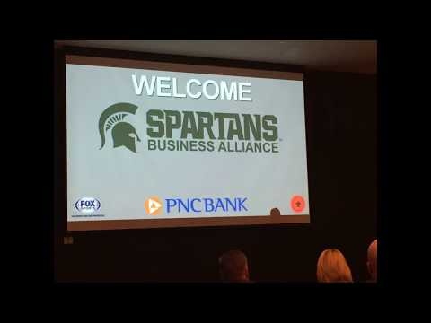 2017 Sept 12 Bob Beaudine speaks at the Fox Sports Spartans Business Alliance