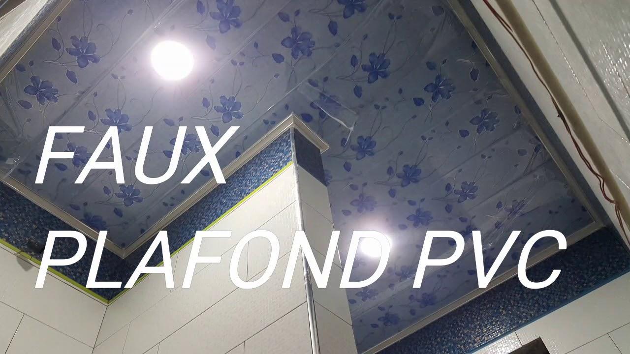 FAUX PLAFOND EN PVC pour salle de bain تركيب سقف بلاستيكي لحمام (5)