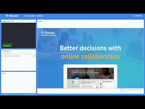 Better decisions with online collaboration - First steps on Discuto