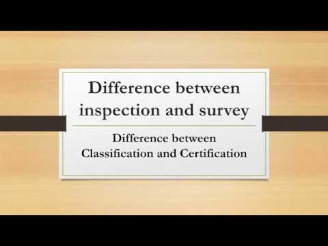 What is difference between inspection and survey/Classificat