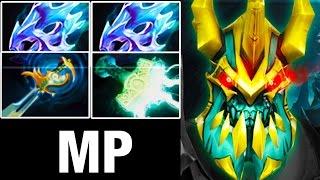 MP Wraith King - Mjollnir and 2 Moon Shard - 548 Attack Speed! - 7.02 Dota 2