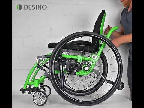 Handling der Rollstühle für den Transport (Hebelrollstuhl/Dynamisches Sitzen)