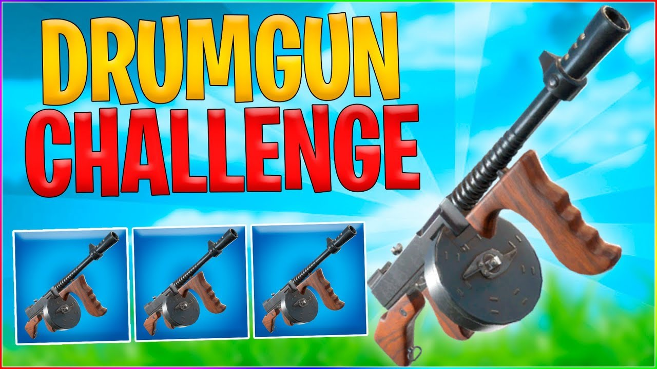 DRUMGUN ONLY CHALLENGE! | Dansk Fortnite