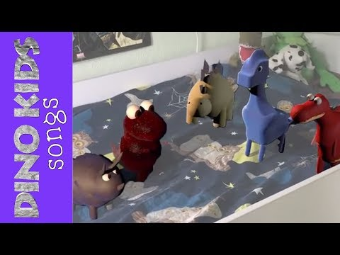 5 Little DINOSAURS Jumping On The Bed (not Monkeys) | Dino Kids Songs for Children