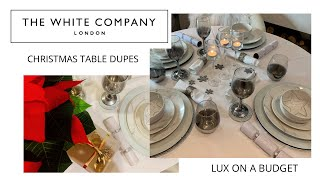 WHITE COMPANY DUPES - CHRISTMAS DINNER TABLE + GIFT WRAPPING  - Tanya Louise