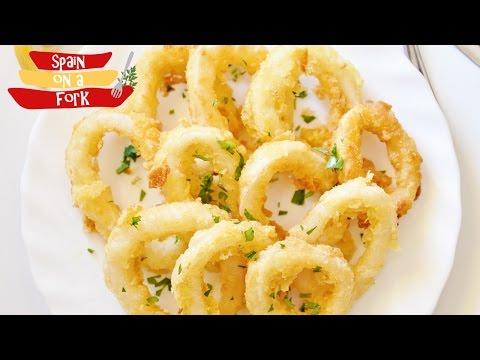 Easy to make Fried Calamari - Fried Squid Rings - Spanish Tapas