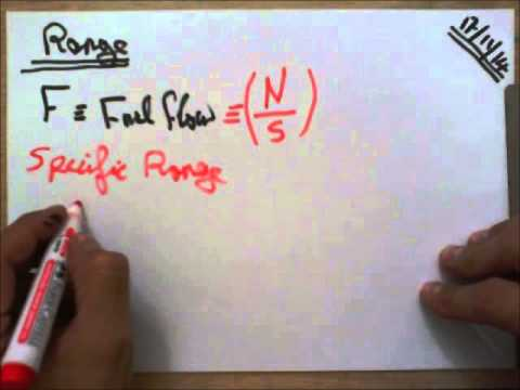 Aircraft Performance: Range - Definitions