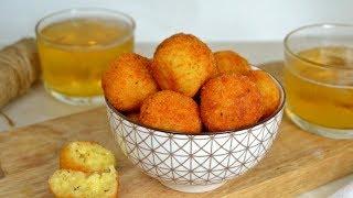 Bolitas de queso fritas Fáciles y deliciosas!