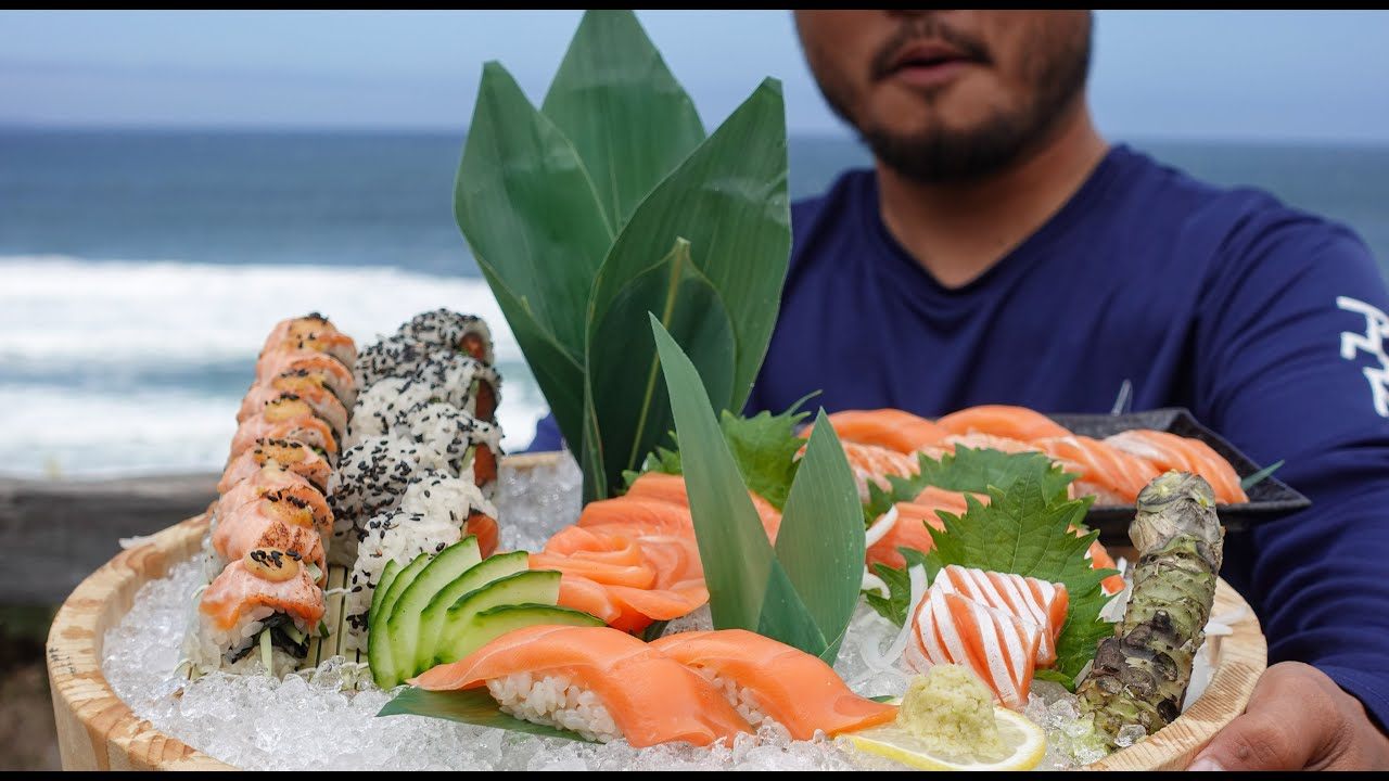 EPIC SALMON SUSHI PLATTER Using My Wild Salmon Catch | Part 2