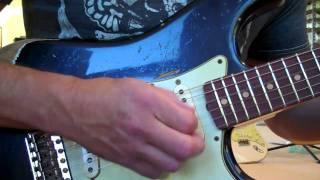 1960 Fender Srat Black Super Relic Unplugged eddievegas com Eddie Vegas