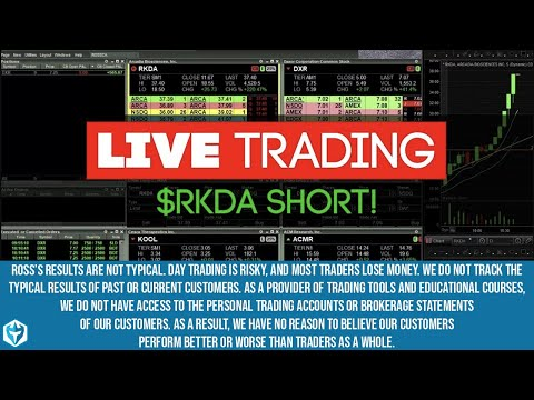 Live Trading $RKDA to the SHORT side!  Short at 33.70