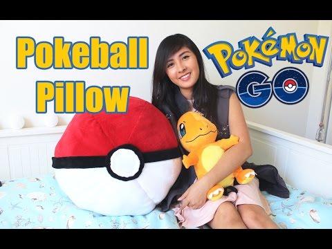 Diy Giant Pokeball Pillow Pokemon Go Room Decor Youtube