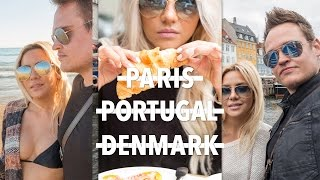 Paris - Portugal - Denmark |  Europe Travel Vlog | ellebangs