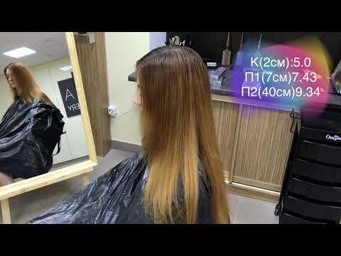 Окрашивание волос в шоколадно-каштановый оттенок | BES Hi-Fi | Максим Квитковский