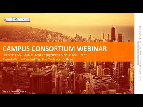 Campus Consortium Webinar Featuring $ 60,000 Grant Award Winner Central Carolina Technical College