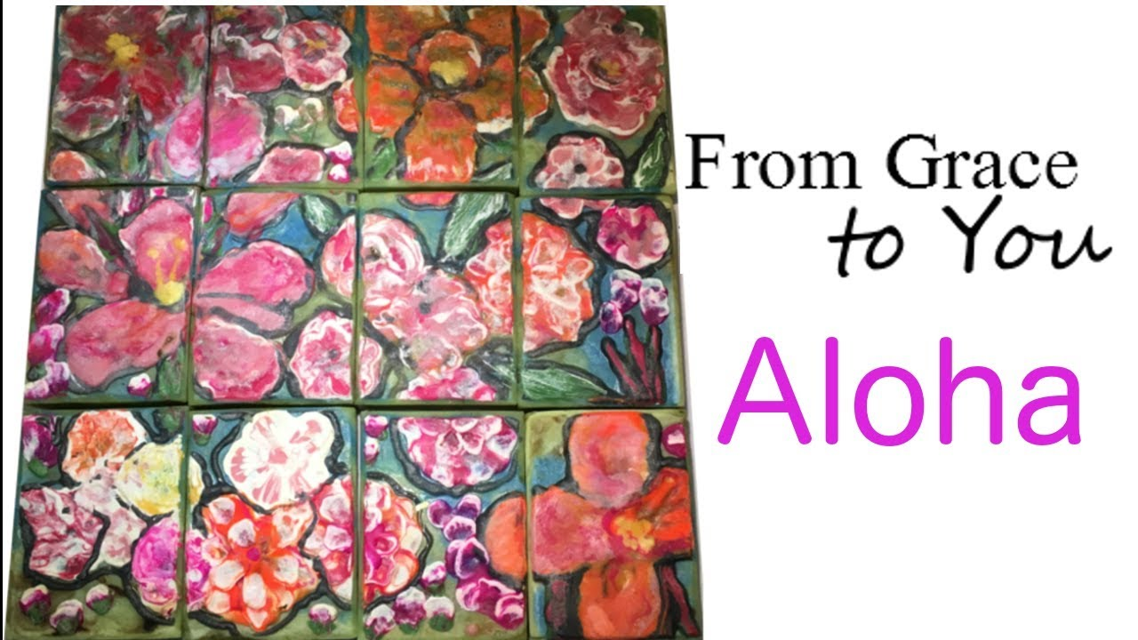 blowing on soap to make aloha flowers with cold process soap youtube