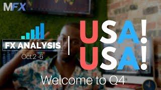 Forex Analysis | USA! USA! | Welcome to Q4