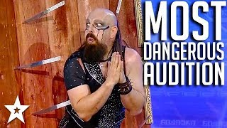 MOST DANGEROUS AUDITION on Georgia's Got Talent 2017 | Got Talent Global