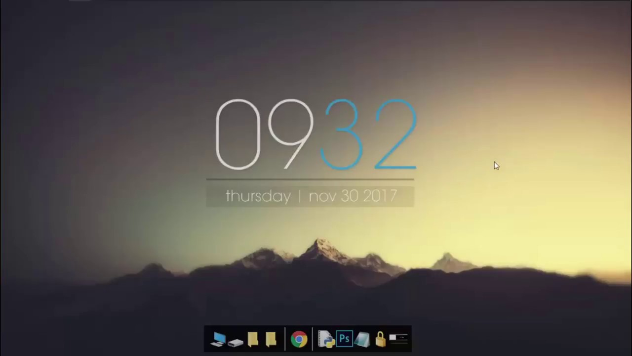 2. Rainmeter Windows 10 Simple Clock