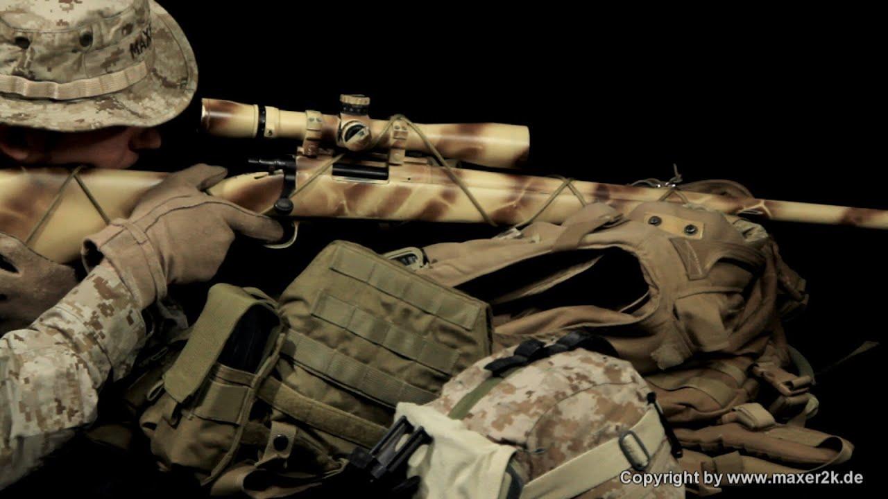 Tanaka - M40 A1 (USMC Scout Sniper Gear) - YouTube M14 Ebr Rifle