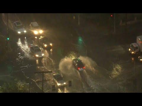 Mudslides threaten California regions scorched by wildfires