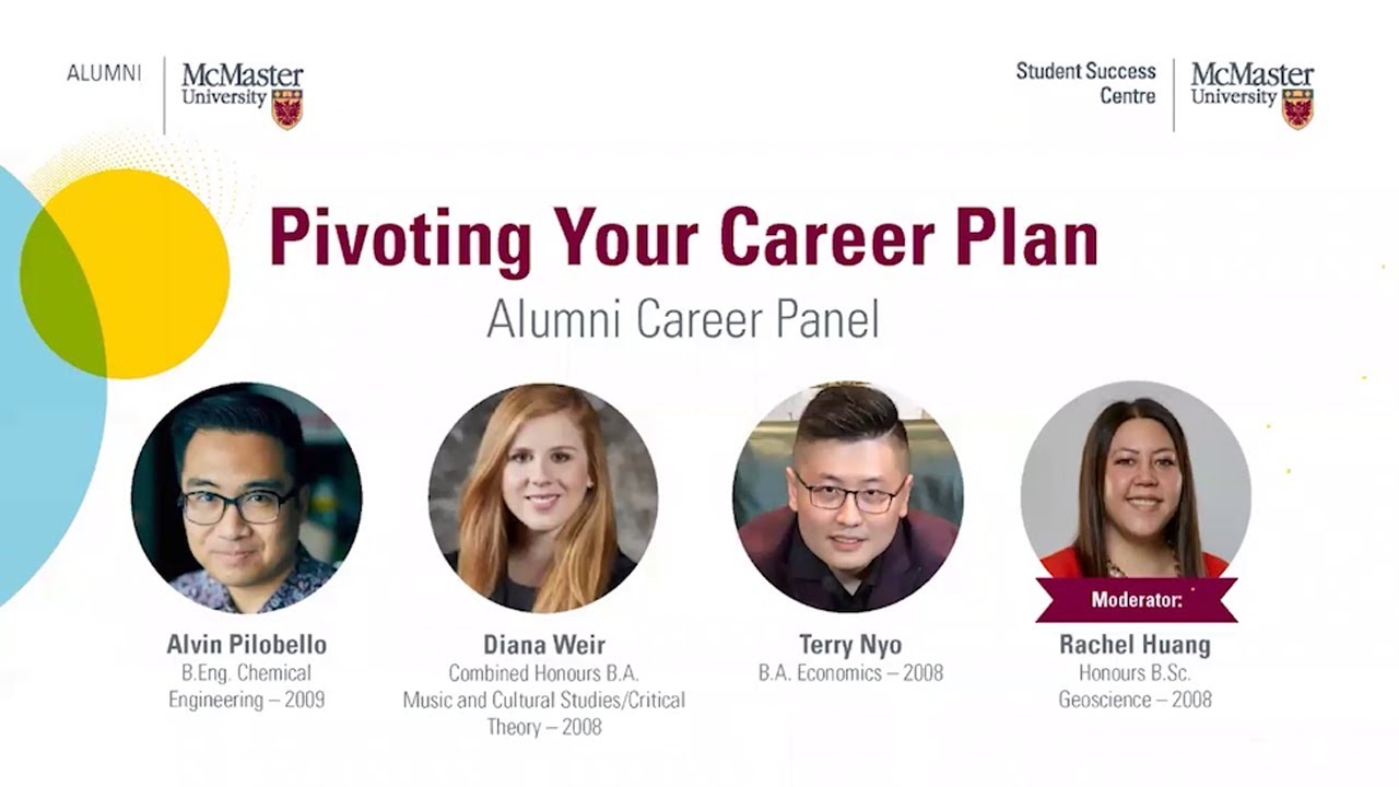 Image for Pivoting Your Career Plan - Alumni Career Panel webinar