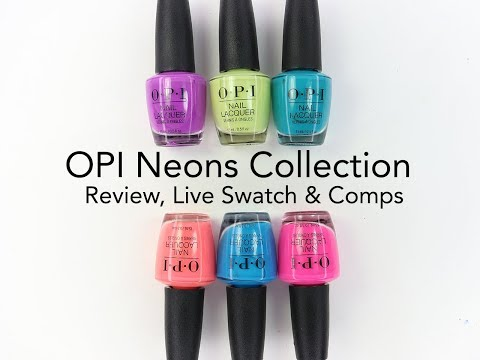 OPI Neon Collection: Review: Live Swatch And Comparisons