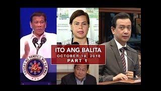 UNTV: Ito Ang Balita (October 19, 2018) Part 1