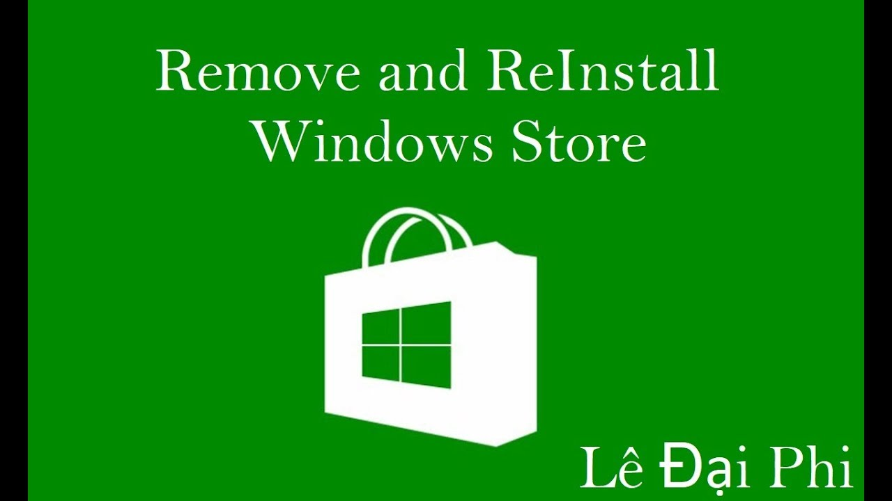 windows 10 reinstall store