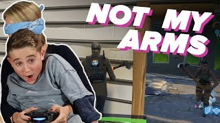 "Parents & Kids Try 'Not My Arms Challenge' in ""Fortnite"""