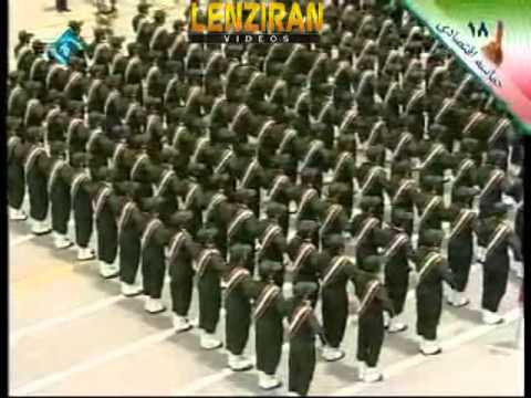 Revolutionary Guard military parade for Ayatollah Khamenei in Emam Hossein university