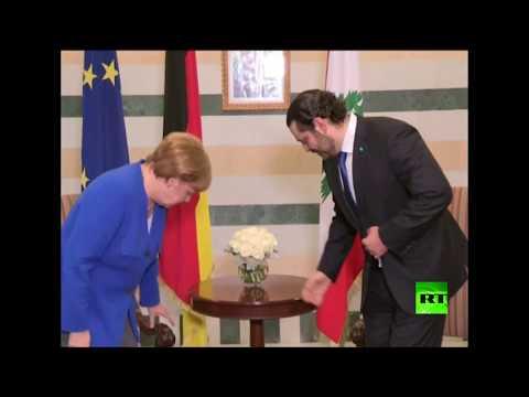 لحظة استقبال سعد الحريري للمستشارة الألمانية أنغيلا ميركل  - نشر قبل 8 ساعة