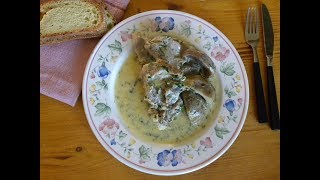 Lamb Fricassee with Artichokes