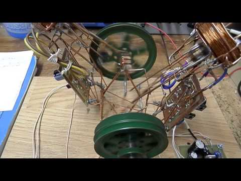 Magnetic acceleration two-piston motor