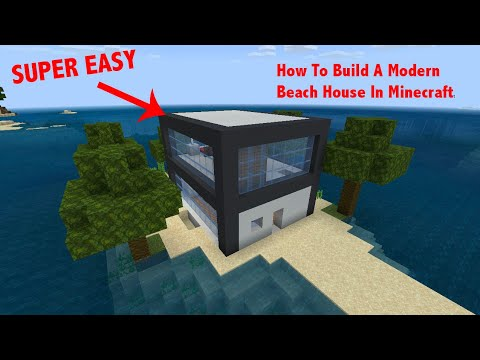 How To Build A Modern Beach House In Minecraft!! (Time-lapse)