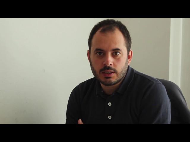 Marcos Maceira, presidente de A Mesa, explica a Iniciativa para a Garantía dos Dereitos Lingüísticos